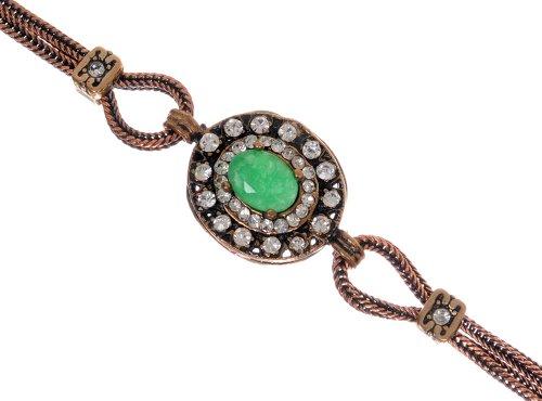 Hurrem Sultan Antique Emerald Gemstone Vintage Bangle Bracelet