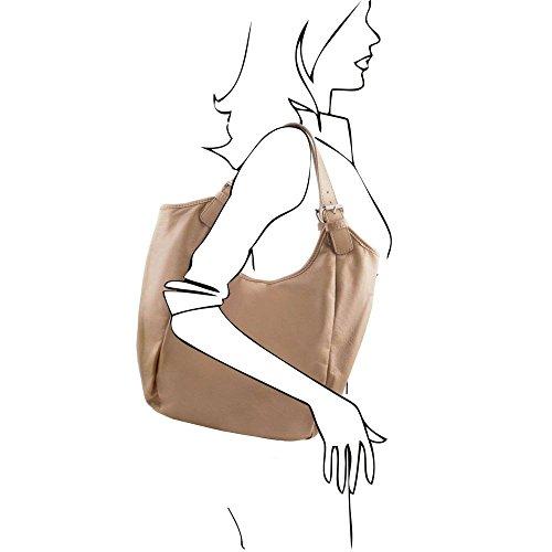 Tuscany Leather TL141357, Borsa a spalla donna Marrone marrone compact