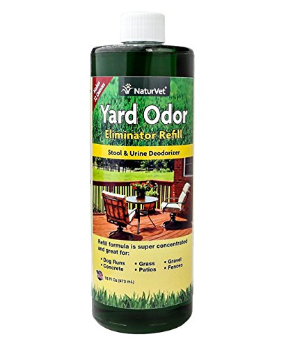 NaturVet Yard Odor Eliminator Concentrated Refill, 16 oz Liquid, Made in USA