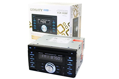 Gravity AGR-502BT Double Din in-Dash Car Entertainment System ()