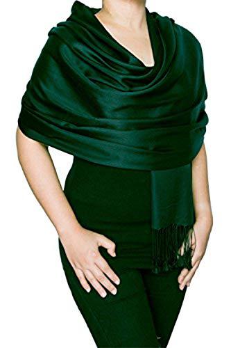 Opulent Luxury Fashion Pashmina Wrap Scarf For Women Reversible Soft Luxurious Premium 100% Silk Shawl 70