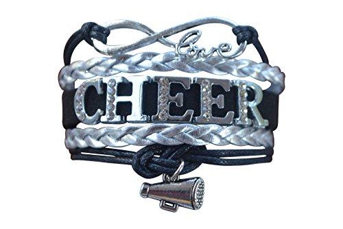 Girls Cheerleading Bracelet, Cheer Gifts- Cheer Jewelry- Cheer Bracelet- Adjustable Cheer Charm Bracelet- Gift For Cheerleaders, Cheer Teams & Cheerleading Coaches
