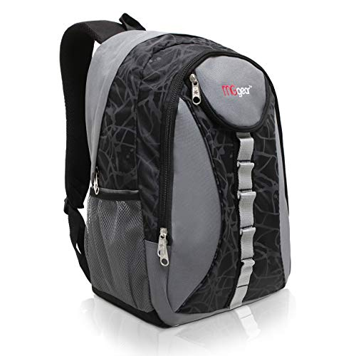 18 Inch MGgear Student Bookbag/Children Sports Backpack/Travel Carryon, Gray