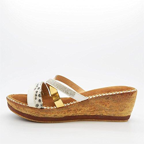 London Footwear - plataforma mujer Blanco - blanco