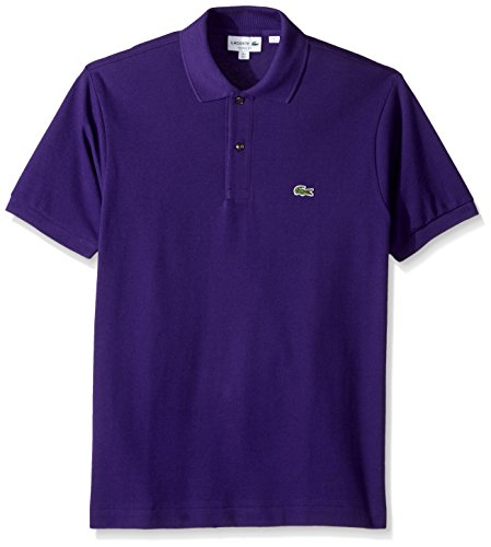 Lacoste Men's Short Sleeve Pique L.12.12 Classic Fit Polo Shirt, L1212, Tanzanite, L