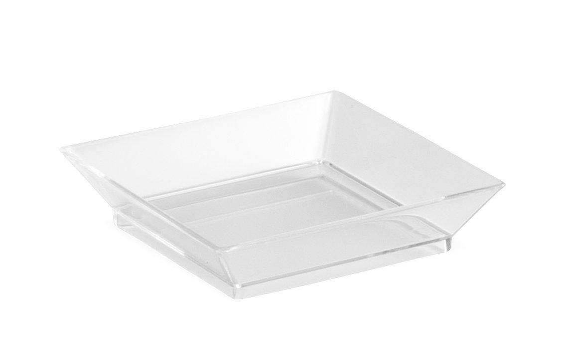 Minio Petite Square Mini Dessert Plates 2.5'' x 2.5'' Clear Pack of 50 Mini Dessert Plates by Minio Petite (Image #2)