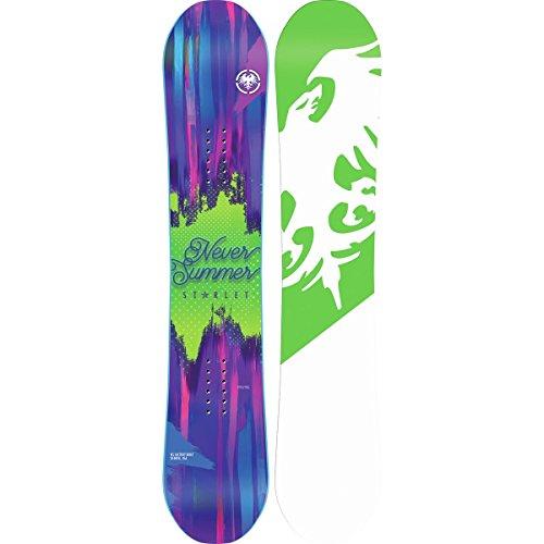Never Summer - Girls Starlet Snowboard 2017, 136 by Never Summer