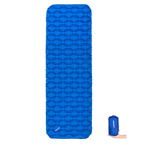 OBOSOE Lightweight Air Sleeping Pad, Inflatable Superior Insulation Sleeping Mat Suitable 4 Season Camping, Backpacking, Hiking, Sleeping Bag, Hammock
