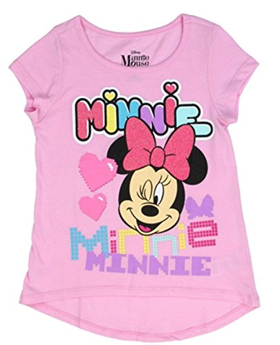 Price comparison product image Minnie Mouse Disney Tetris Blocks Toddler Girls Short Sleeve Shirt (2T)