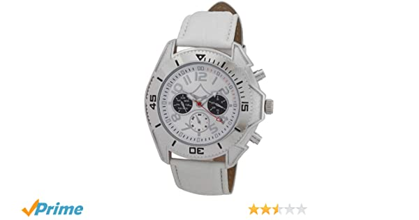 Amazon.com: Sarastro Mens Automatic Watch White Leather Band Day Date & 24 Hour Subdials AA100696G: Sarastro: Watches