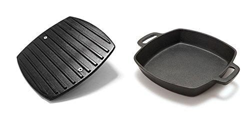 Grillpro Gusspfanne mit Grillgewicht