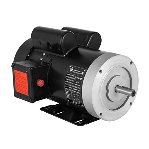 VEVOR 115/230 V Electric Motor 56C Frame 1.5 hp Electric Motor 1725 RPM Single Phase Electric Motor 5/8 Inch Keyed Shaft for The Matching of Water Pumps