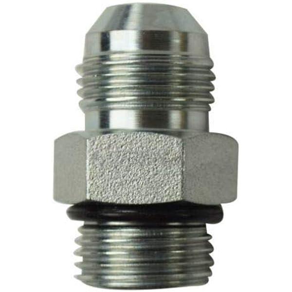 Straight Adapter 1-1//2 in Male JIC 37/° Flare x 1-1//2 in Male O-Ring Boss Steel Brennan 8 Units