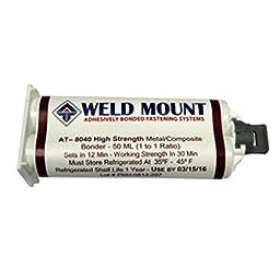 Weld Mount No Slide Metal/Composite Bonder Marine RV Boating Accessories
