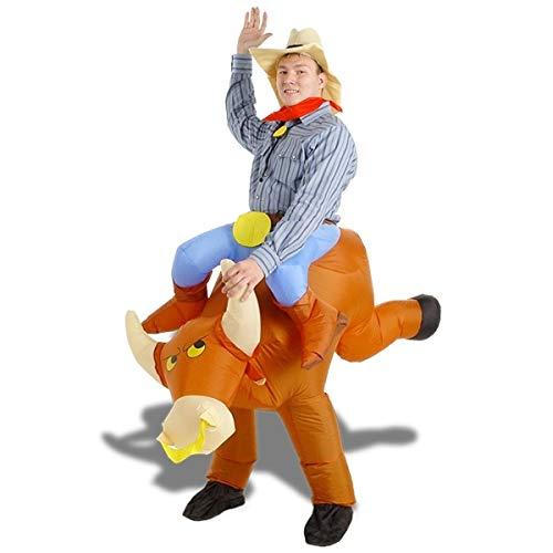 Costume torero backpack inflatable rodeo bull costume -