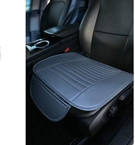 C.P.R. New Breathable PU Leather Seat Cushion Pad for Cars SUV Trucks Auto Office Chair (Front Piece (1), Black)