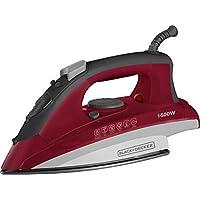 Black+Decker BXIR1601IN 1600 Watt Steamer Iron (Red)