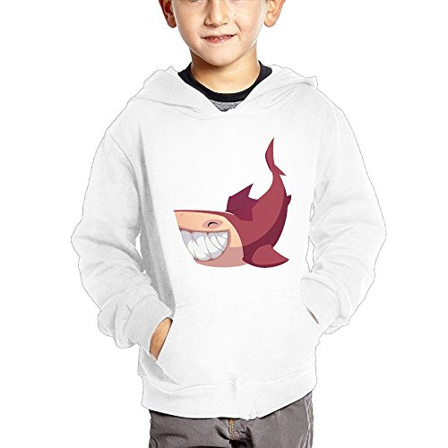 Price comparison product image Faintkeeper Red Shark With Happy Smile Children's Casual Soft Hooded Pocket Hoodie