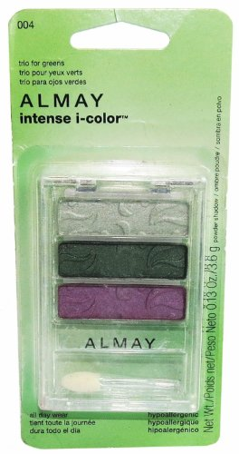 Almay Intense I-color Powder Shadow Trio for Greens for Women, No. 004, 0.13 Ounce]()