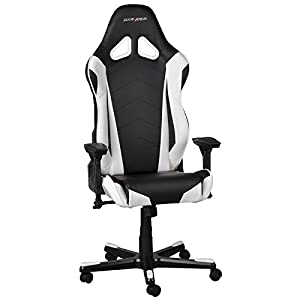 dxracer racing series gaming chair black white oh re0. Black Bedroom Furniture Sets. Home Design Ideas
