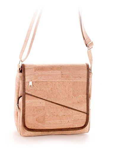 Artelusa Cork Crossbody Bag Adjustable Shoulder Strap Natural Eco-Friendly Handmade in Portugal