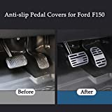 Jaronx No Drill Pedal Covers for Ford