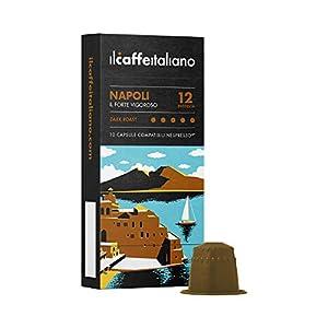 FRHOME Il Caffè Italiano Capsule compatibili con Nespresso , Miscela Napoli Intensità 12, Confezione da 100 Capsule