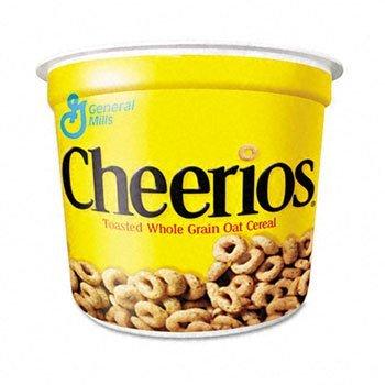 (Cheerios Breakfast Cereal, Six Single-Serve 1.3oz)