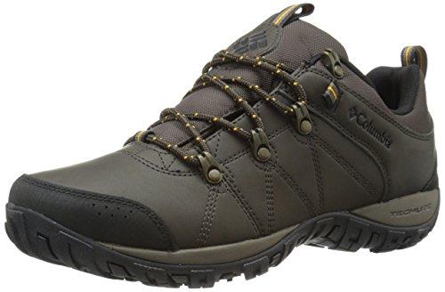 - Columbia Men's Peakfreak Venture Waterproof Trail Shoe, Cordovan/Squash, 10 D US