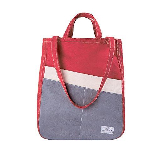 Original Duck - Andes Original Duck Canvas Zip Purse, Multi-Pocket Casual Tote Bag for Ladies, Machine Washable (Coral)