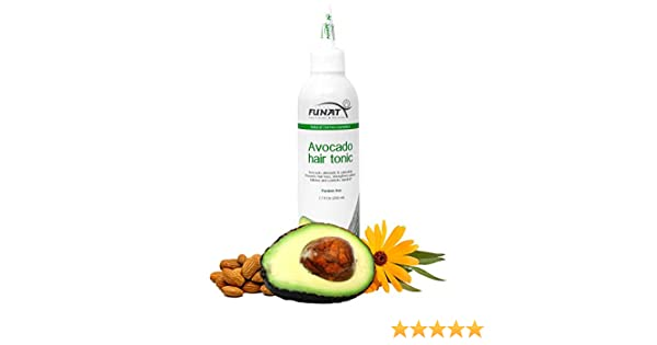 Amazon.com: Funat Natural Avocado Extract Hair Tonic for Hairloss Control, Dandruff and PH Balance (7.7 oz): Health & Personal Care
