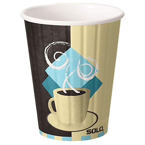 Duo Shield Case - Solo IC12-J7534 12 oz Tuscan Cafe Duo Shield insulated Paper Hot Cup (Case of 600)