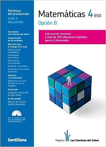 Guia Matematicas 4 Eso Opcion B Los Caminos Del Saber Santillana Spanish Edition 9788468000268 Books