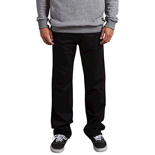 Volcom Men's Kinkade Stretch Denim Jean, Blackout, 30
