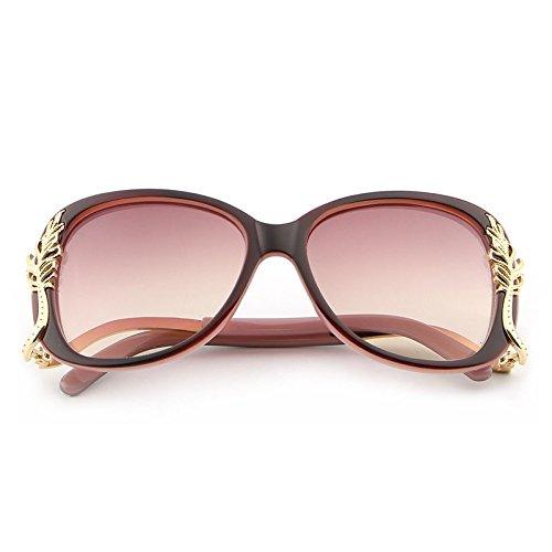 Feminino Soleil JCH Polycarbonate Sol de Metal de de en Soleil Lunettes UV400 Femmes Lunettes Pink pink Red Retro Frame oculos Red xTnTw1qrOI
