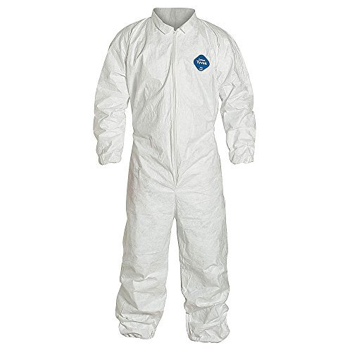 Dupont Tyvek 125S White Coverall With Zipper Front And Elastic Wrists And Ankles 5X TY125SWH-5X by DuPont by DuPont (Image #1)