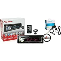 Pioneer DEH-X6600BS In Dash CD Receiver with Bluetooth Handsfree, SiriusXM SXV200v1 Tuner, Antenna Package with FREE SOTS Air Freshener