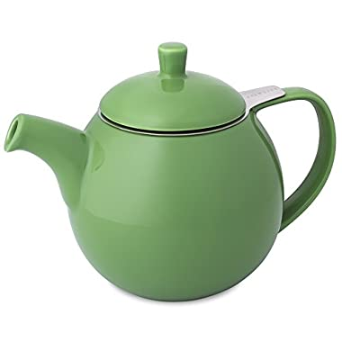 FORLIFE Curve Teapot with Infuser, 24-Ounce, Ivy
