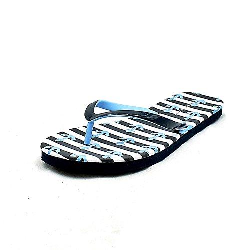 Damen Flip flops / Badesandalen mit Anker Muster Dunkelblaue Anker