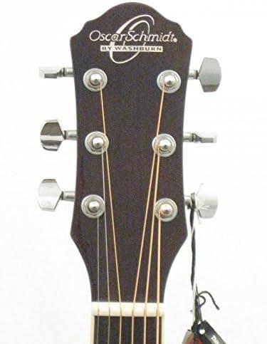 Oscar Schmidt OG10CEFTBLH Left-Handed Acoustic Electric Guitar Trans Black