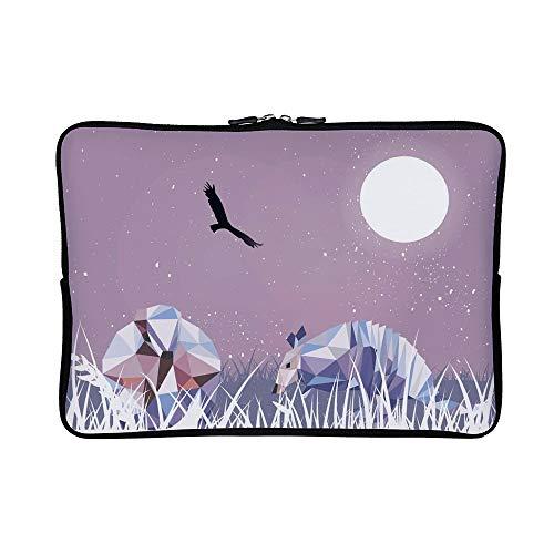 dillos Low Poly Neoprene Laptop Sleeve Case Waterproof Sleeve Case Cover Bag 15 inch for MacBook/Notebook/Ultrabook/Chromebooks ()