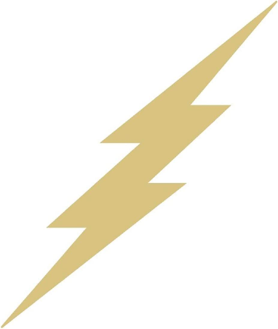 Lightning Bolt Cutout Unfinished Wood Home Decor Seasonal Decor Thunder Storm Rainy Day Craft MDF Shaped Canvas Style 2 (12