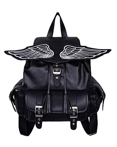 Yonger Cool PU Leather Demon Wings Cute Backpack for Girls