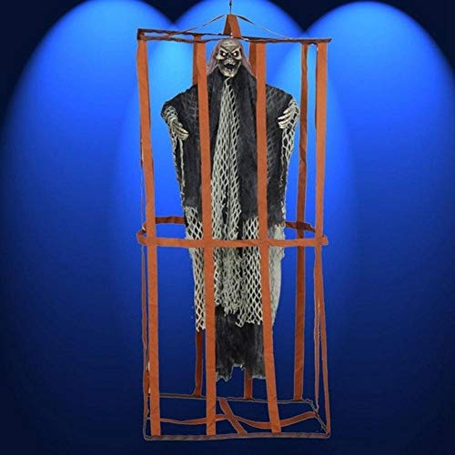 Party DIY Decorations - 1 Piece Terrible Hanging Ghosts Halloween Party Decorations Haunted House Props Horror Ghosts Bar Ktv Scene Decorations (Black)]()