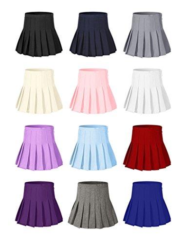 Beautifulfashionlife Women's High Waisted Pleated Mini Shorts Sport Skorts