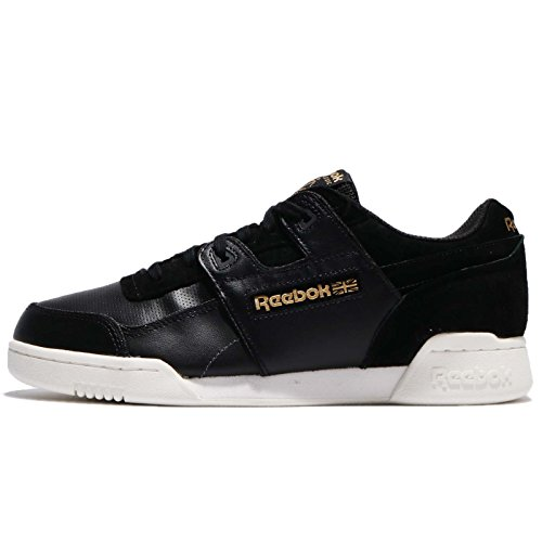 REEBOK Men's Workout Plus Alr, Black/chalk/Ash Grey/Brass, 11 M US by Reebok