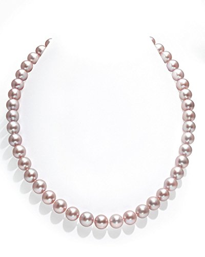 9-10mm-Pink-Freshwater-Cultured-Pearl-Necklace-AAAA-Quality-16-Inch-Choker-Length