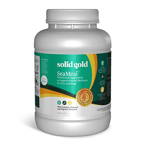 Solid Gold SeaMeal Kelp-Based Powder for Skin & Coat, Digestive & Immune Health in Dogs & Cats; Natural, Holistic Grain-Free Supplement; 5 lb