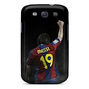 Protective Hard Phone Covers For Samsung Galaxy S3 (Iyh15343mptI) Custom Realistic Messi Series
