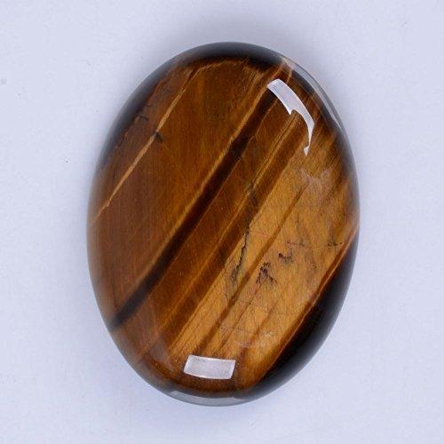 40x30mm Oval Cabochon CAB Flatback Semi-precious Gemstone Ring Face (Yellow Tiger